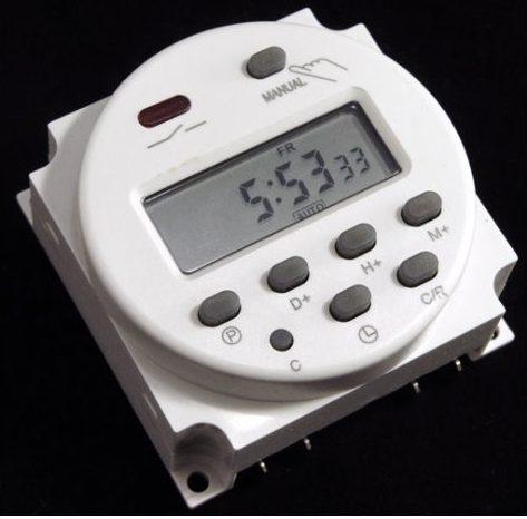 Elektronisk digital timer / Minutur12V/16A