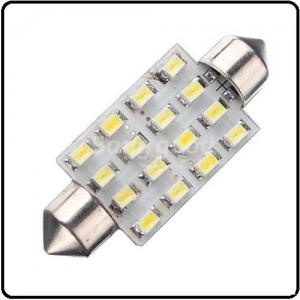 16 SMD LED/42mm Auto pinol pære- Varm/hvid