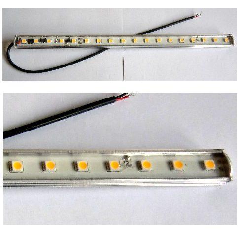 30cm LYS bar med 18 SMD Led -varm/hvid