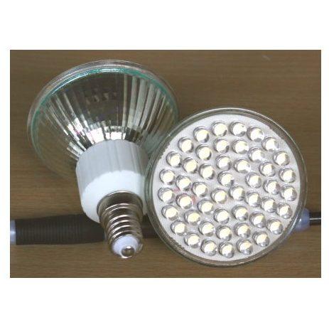 2,5W 230V/48 LED Pære E14 Fatning, hvid/hvid