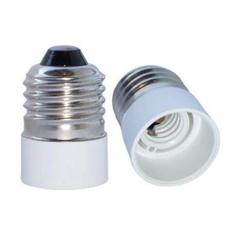 Fatning Adapter E27 til E14 - Hvid