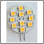 10 SMD LED G4 SPOT/ 2,0W-Varm/Hvid Type P