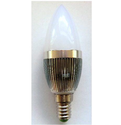 3,0W 230V/3 SMD LED Pære E14/ varm/hvid, Ø 36