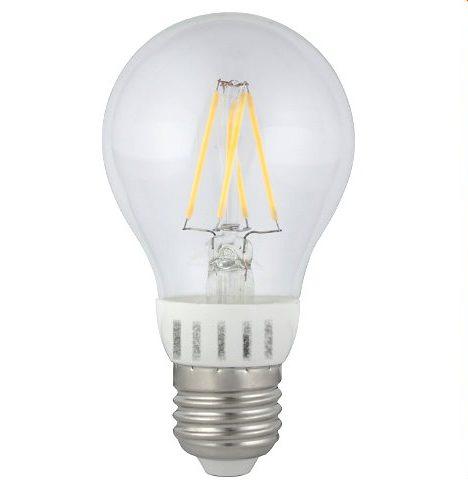 230V/6W filament LEDPære E27 fatning varm/hvid