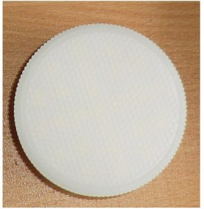 230V/4W LED mini Panel, Ø75mm varm/hvid, mat front