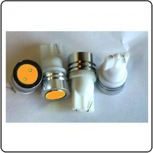 T10 LED pære - 12V/1W, Varm-Hvid