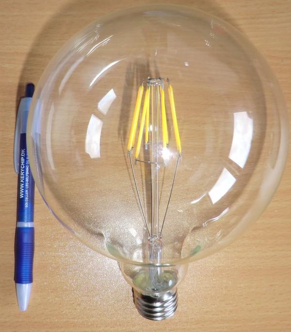 230V/12W G120 Globepære LED-Pære E27 fatning varm/hvid
