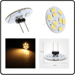9 SMD LED G4 SPOT/2,0W-Varm/Hvid Type L