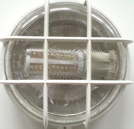 Rund udendørs væglampe med 12V pære