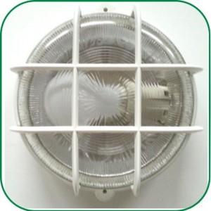 Rund udendørs væglampe med 230V pære