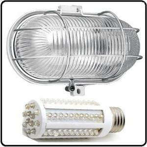 Udendørs væglampe med 12V pære