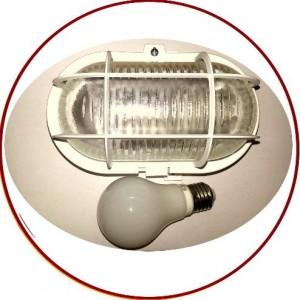 Udendørs væglampe med 230V pære